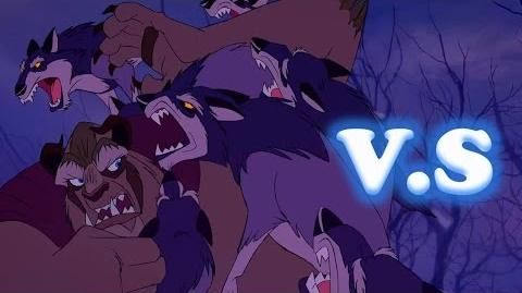 "Batalla Disney ""Bestia vs Lobos"" La Bella Y La Bestia"