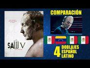 El Juego del Miedo 5 -2008- Comparación de 4 Doblajes Latinos - Original y Redoblajes - Español