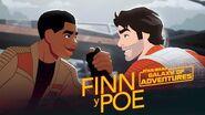 Finn y Poe Star Wars Galaxy of Adventures