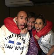 Lalo, Arturo y Romi