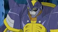 Beetlemon se le ocurre una idea para derrotar a Grumblemon - Latino