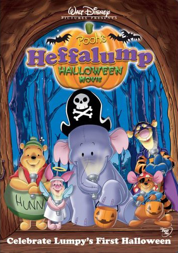 Winnie Pooh y el pequeño efelante celebran Halloween