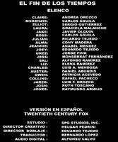Doblaje Latino de El Fin de los Tiempos