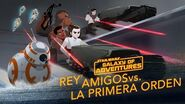 Rey y sus amigos vs La Primera Orden Star Wars Galaxy of Adventures