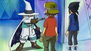 Takuya y sus amigos conocen a Sorcerymon - Latino