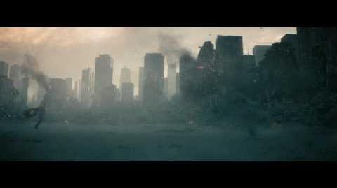 Man Of Steel escena Superman vs Zod pelea final parte 1 Español Latino Full HD