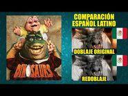 Dinosaurios - Comparación de los Doblajes Mexicanos en Capítulo Redoblado - Español Latino