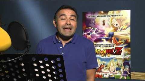 Saludo de Mario Castañeda para Chile Dragon Ball Z La batalla de los dioses
