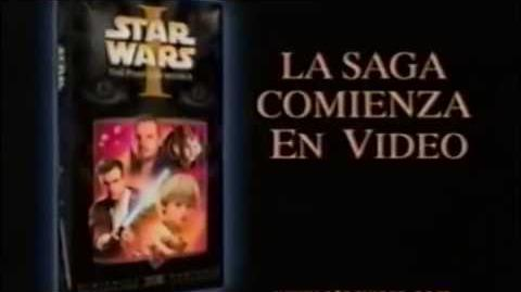 Star Wars Episodio I La Amenaza Fantasma Comercial DVD (2000) (México)