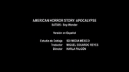 AHS- Apocalipsis - Eps. Boy Wonder - Créditos de doblaje 1