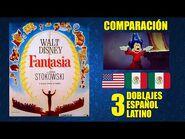 Fantasía -1940- Comparación de 3 Doblajes Latinos - Original y Redoblajes - Español Latino