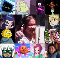 Rocío y algunos de sus personajes.jpg