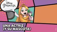 Rapunzel Una actriz (y su mascota) Disney Princesa