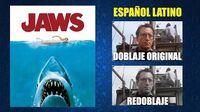 Tiburón -1975- - Doblaje Original y Redoblaje - Español Latino - Comparación y Muestra