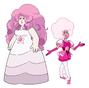 Rose Cuarzo & Damante Rosa