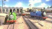 Thomas y sus amigos -un problema para sir topham hat.