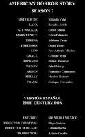 Doblaje Latino de America Horror Story (2ª Temporada)