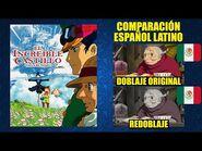 El Increíble Castillo Vagabundo -2004- Comparación del Doblaje Latino Original y Redoblaje - Español