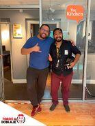Rómulo Bernal y Victor Luperdi en el estudio The Kitchen en Miami