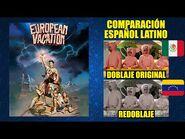 Vacaciones en Europa -1985- Comparación del Doblaje Latino Original y Redoblaje - Español Latino-2