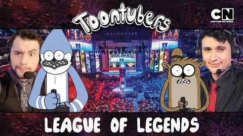 La Gran Guerra de los Narradores en League of Legends ToonTubers en Español Cartoon Network-0