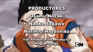 Crédito al productor de TAI Hugo Mayorga en el ED 1 de Dragon Ball Z Kai TFC