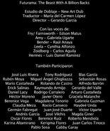 Doblaje Latino de Futurama La Bestia con Billones de Brazos