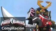 Power Rangers en Español Power Rangers Samurais Batallas Zord