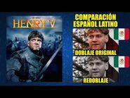 Enrique V -1989- Comparación del Doblaje Latino Original y Redoblaje - Español Latino