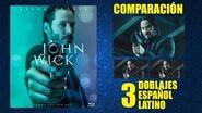 John Wick -2014- Doblaje Original y 2 Redoblajes - Español Latino - Comparación y Muestra