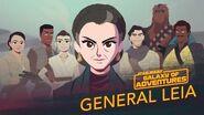Una princesa, un general, un mentor Star Wars Galaxy of Adventures
