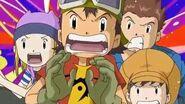 Takuya y sus amigos llegan a la villa de los Numemon - Latino