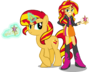 Sunset shimmer and sunset shimmer by hampshireukbrony-d6qbs1c