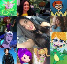 Ivanna y algunos de sus personajes.jpg