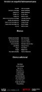 Créditos doblaje Selena La serie (temp. 1 ep. 5)