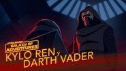 Kylo Ren y Darth Vader Un legado de Poder Star Wars Galaxy of Adventures