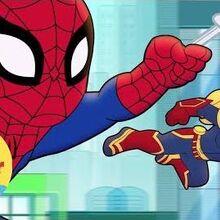Un extraterrestre Aventuras de Súper Héroes de Marvel