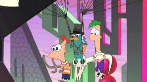 Phineas y Ferb a través de la 2ª dimensión en fabuloso 2D - Perry es un agente secreto