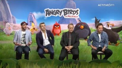 Entrevista con las voces de Angry Bird La película ActitudFEM-0