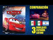 Cars -2006- Comparación de 3 Doblajes Latinos - Original Redoblajes - Español Latino