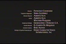 Creditos Tecnicos de doblaje Mulan VHS