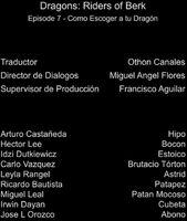 Doblaje Latino de Dragones Jinetes de Berk (Capitulo 7)
