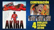 Akira 1988 Comparación del Doblaje Original y 3 Redoblajes Español Latino