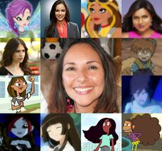 Yasmil y algunos de sus personajes.jpg