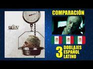 El Juego del miedo 4 -2007- Comparación de 3 Doblajes Latinos - Original y Redoblajes - Español