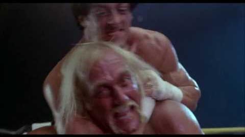 Pelea entre Rocky y Querubin (Hulk Hogan) - Rocky 3 Doblaje Original Latino