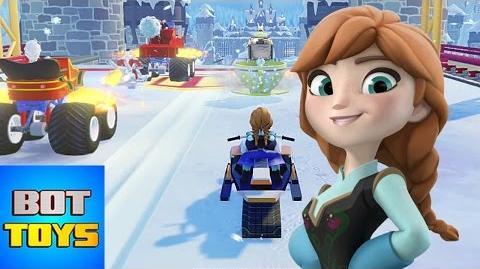 Caricaturas de Disney en Español Anna de Frozen a la Carrera en Disney Infinity 3