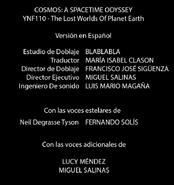 Créditos doblaje Cosmos Una odisea espacio-tiempo (ep. 9)