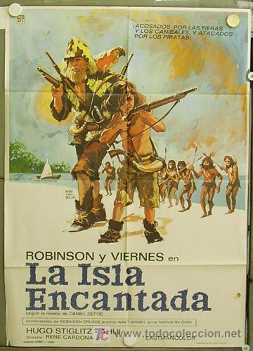 Robinson Crusoe y Viernes en la Isla Encantada
