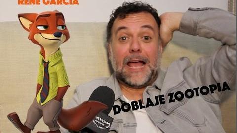 Doblaje Zootopia Rene García